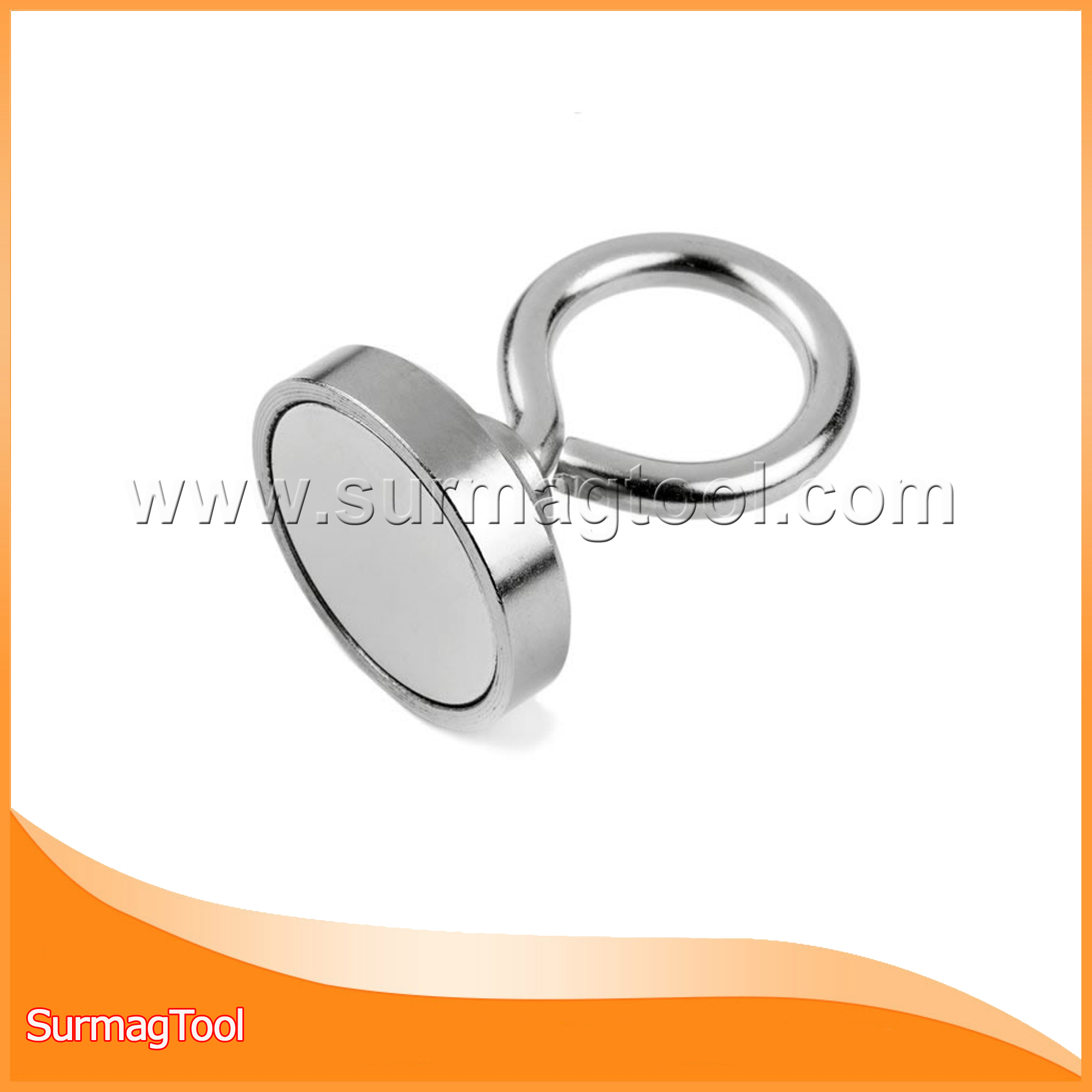 Strong Rare Earth Neodymium Pot Magnet with Eyebolt