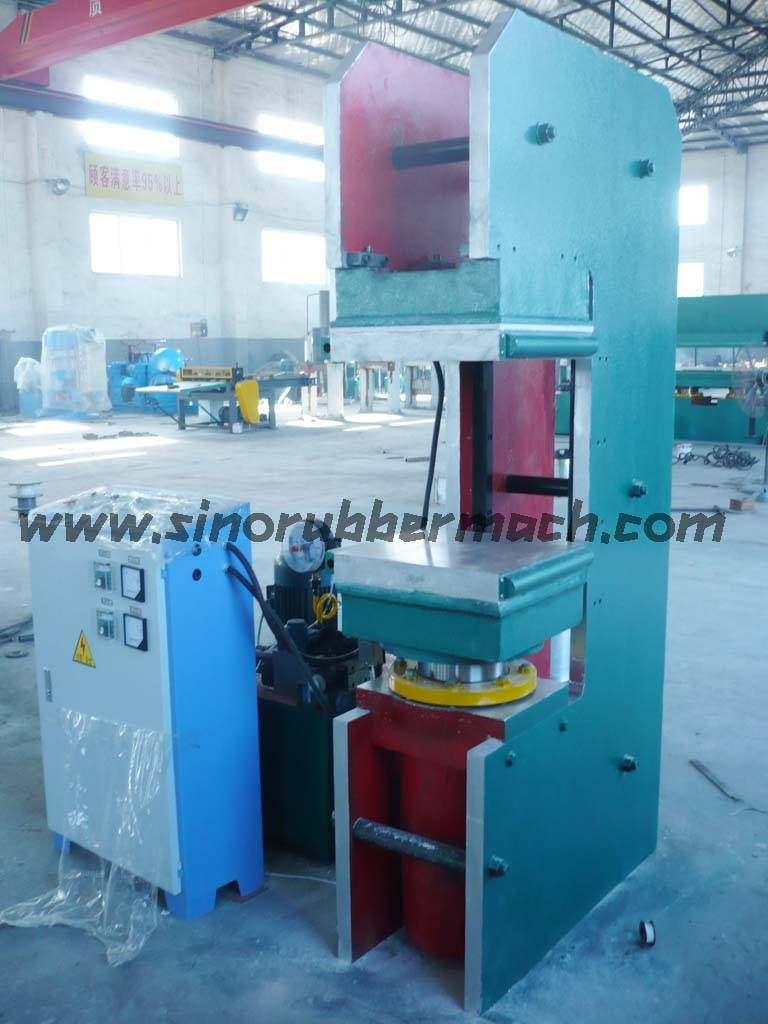 E-type plate vulcanizing machine