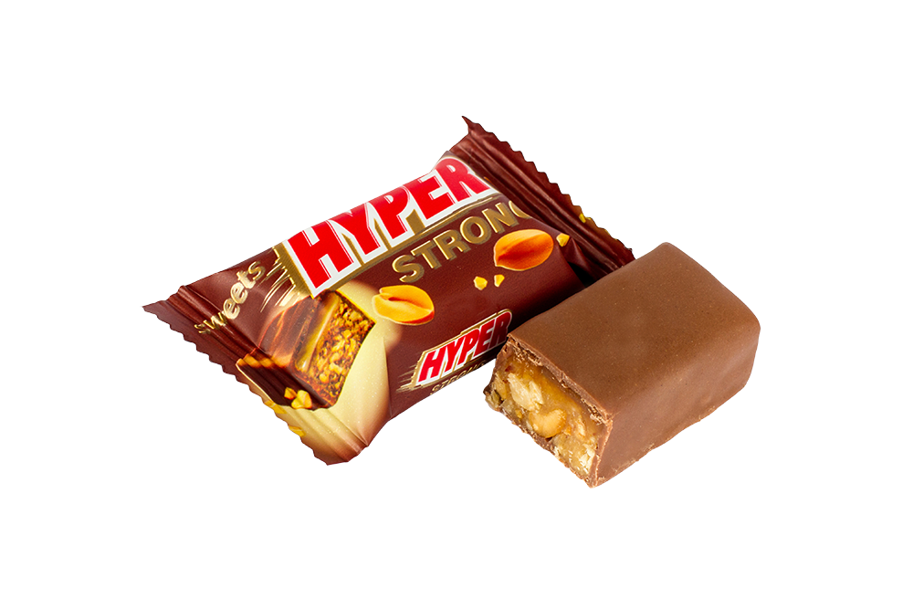 Hyper with peanuts