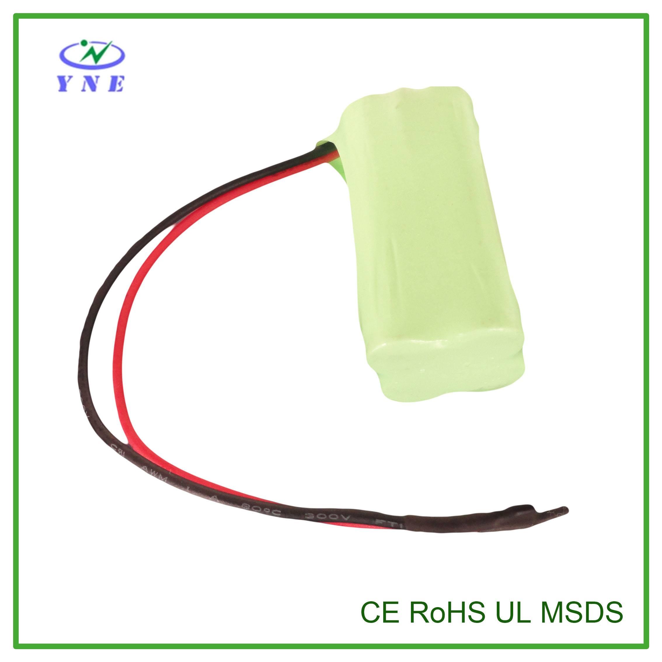 AA 4.8V 2200mah Ni-MH Rechargeable Battery