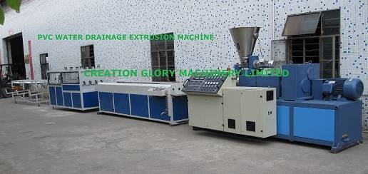 Stable performance PVC drainage pipe plastic extruder machine