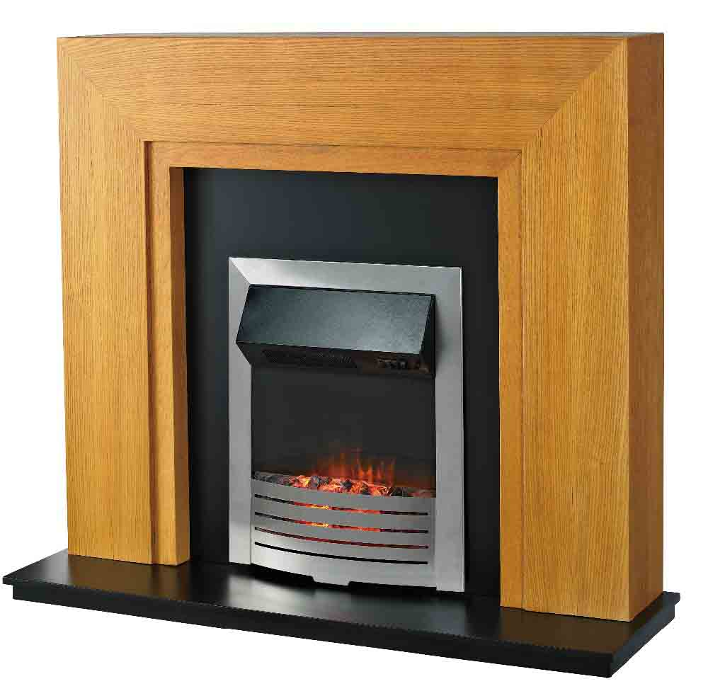 LJIF1501E Electric Fireplace Heater Mantel with LED