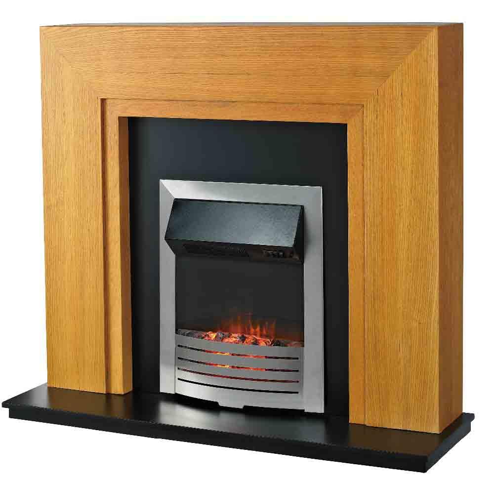 LJIF1501E Electric Fireplace Heater Mantel with LED