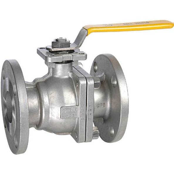 2 piece full bore ball valve