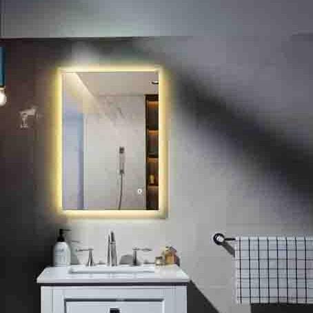 Aluminum frame Makeup bluetooth illuminated bath mirror