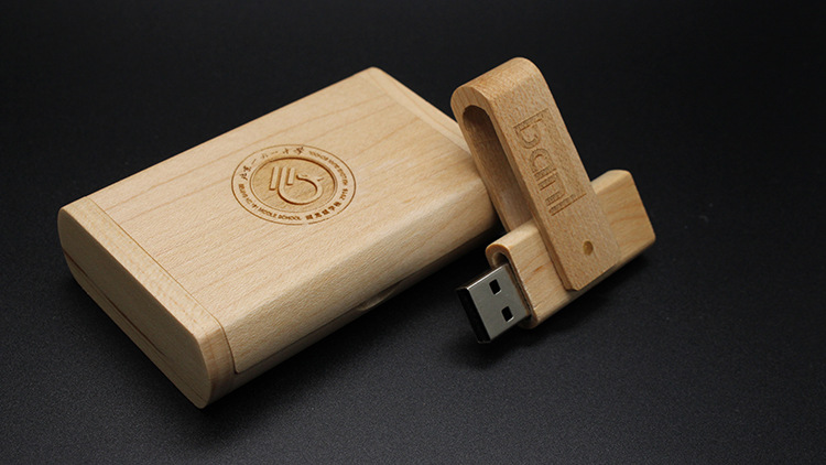CaraUSB wood clamp usb disk twister wooden pen drive maple swivel flash memory