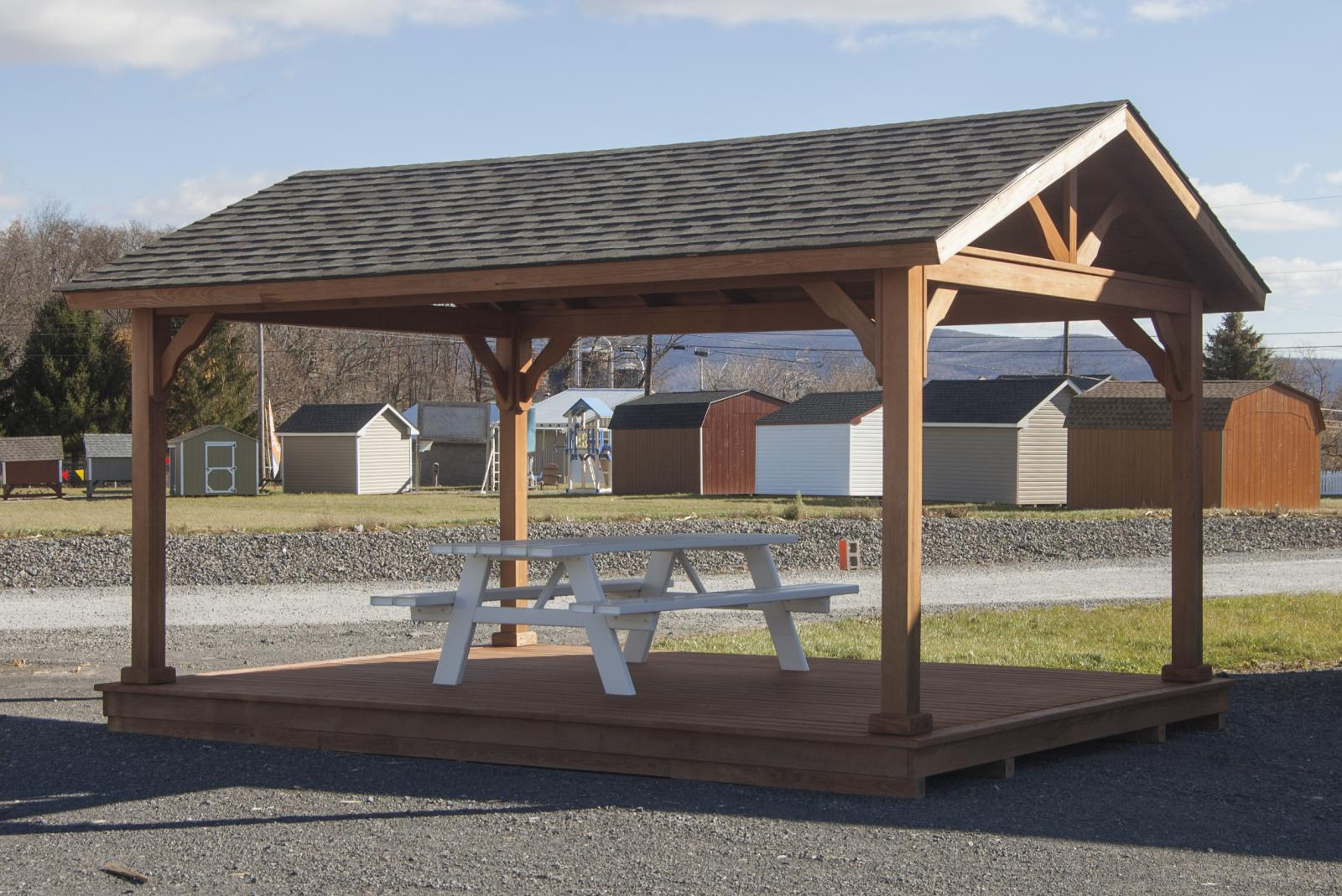 mdoern design outdoor wood gazebo