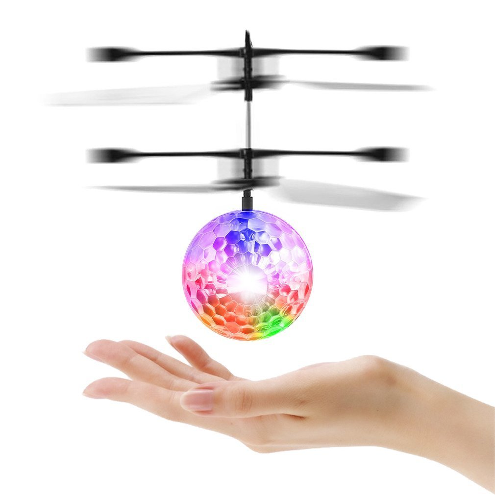 RC Toy, RC Flying Ball, Mini RC infrared Induction Drone Hand Suspension Helicopter Flying Balls
