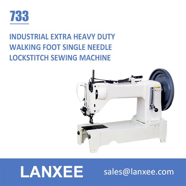 Lanxee 733 extra heavy duty walking foot industrial sewing machine