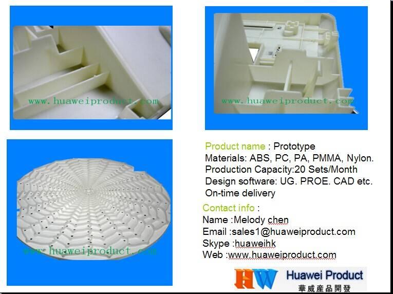 Prototype mold plastic prototype mold CNC machined prototypes