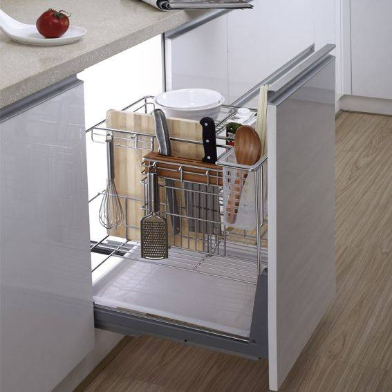 Multi-function Kitchen Drawer Basket with Knife Shelf:170001733