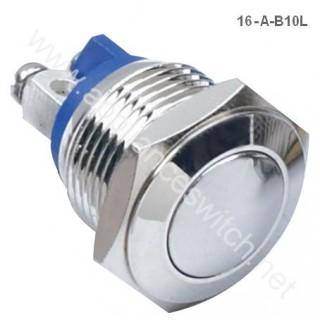 2016 Hot Sale 16mm Waterproof Metal Push Button Switch with Momentary on Manufacture China
