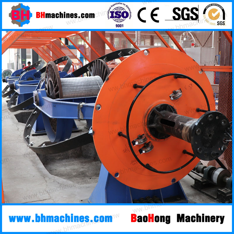 1+3 Skip Laying Machine-Drum 1250mm Skip Stranding Machine