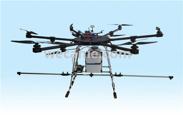 Unmanned aircraft 6-axle drone agriculture for crop spraying