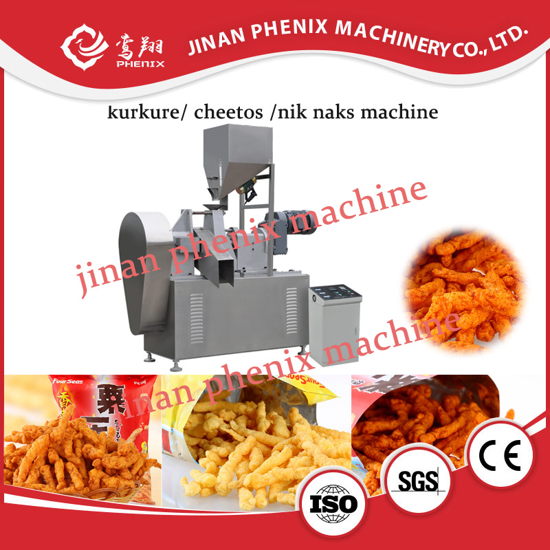 kurkure cheetos nik naks snack food extruder making machine