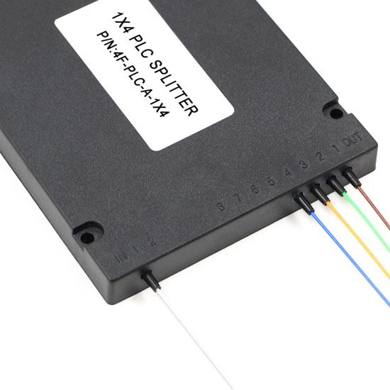1X4 PLC splitter ABS type with 2.0mm fiber