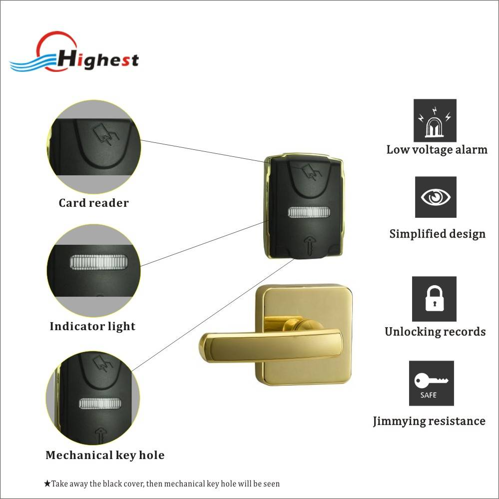 SP01-J Temic or Mifare hotel card door lock with system