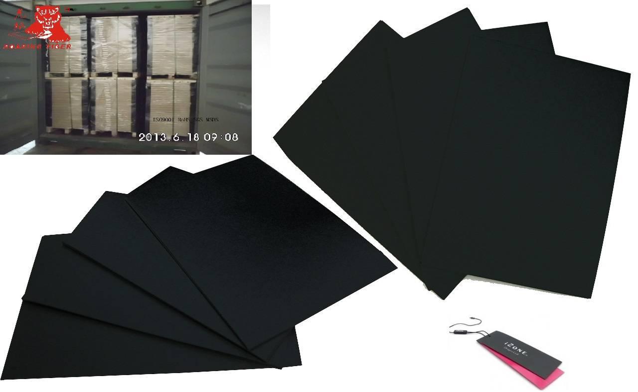 China black paper/board/laminated cardboard 280gsm 290gsm 300gsm 310gsm 320gsm 330gsm 340gsm 350gsm