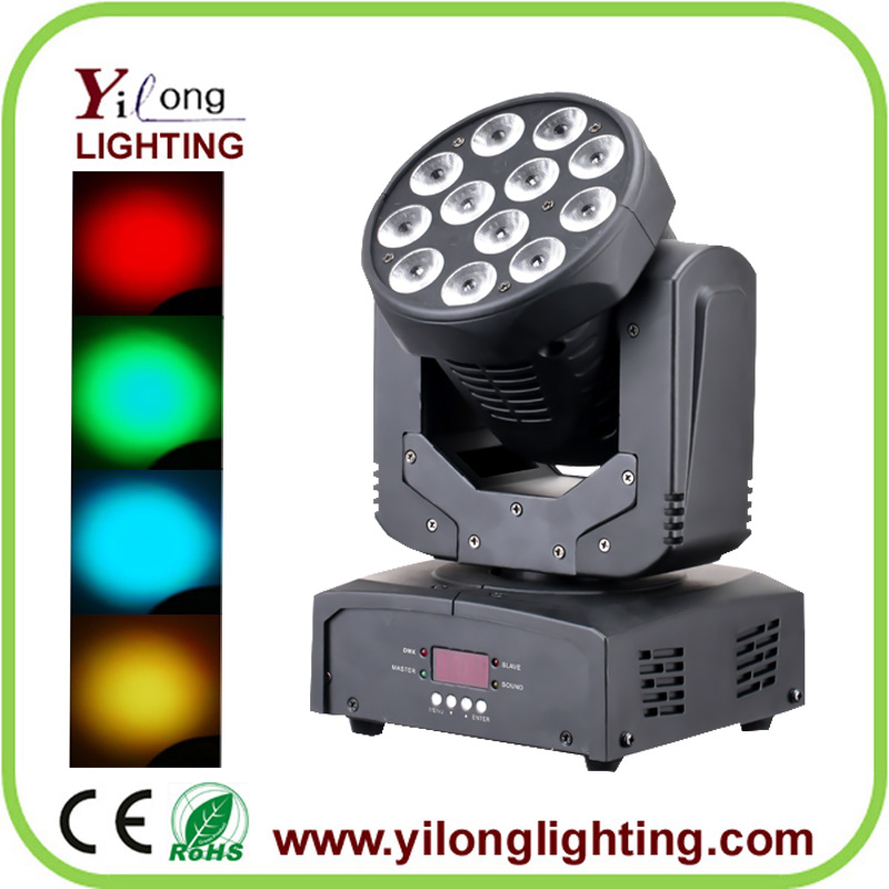 NEW 12X10W RGBW moving head wash,moving head stage lighting,party light,led factory light
