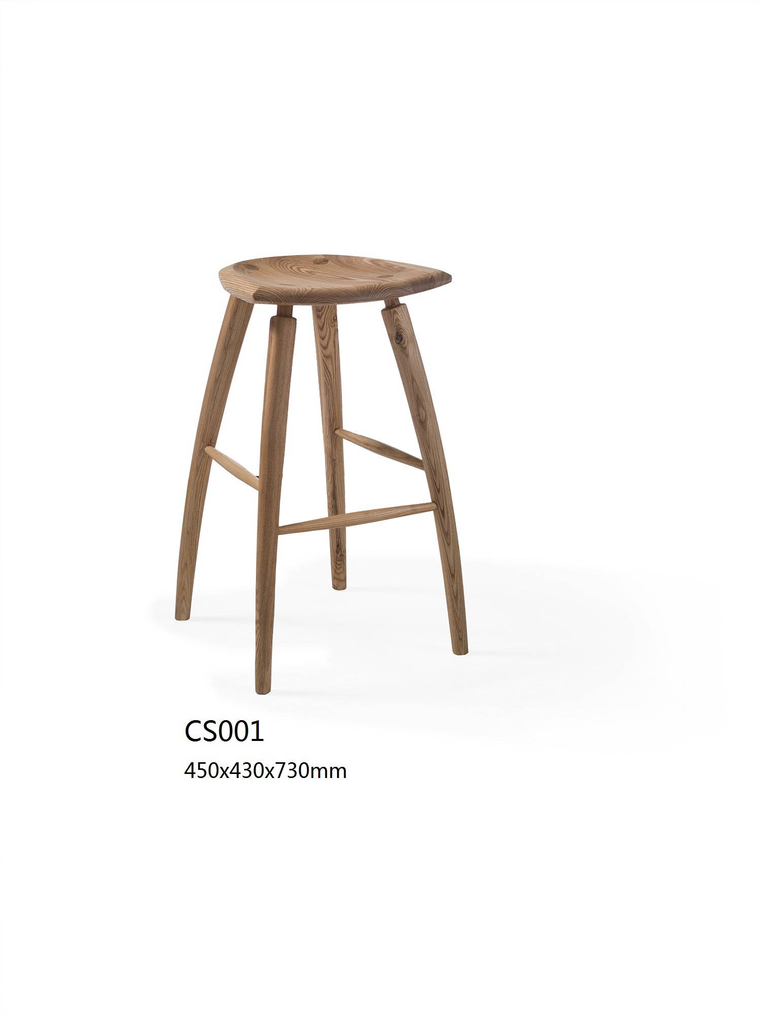 Natural Finish Wooden Bar Stool With Different Shape Top,Solid wood design wooden bar chairs
