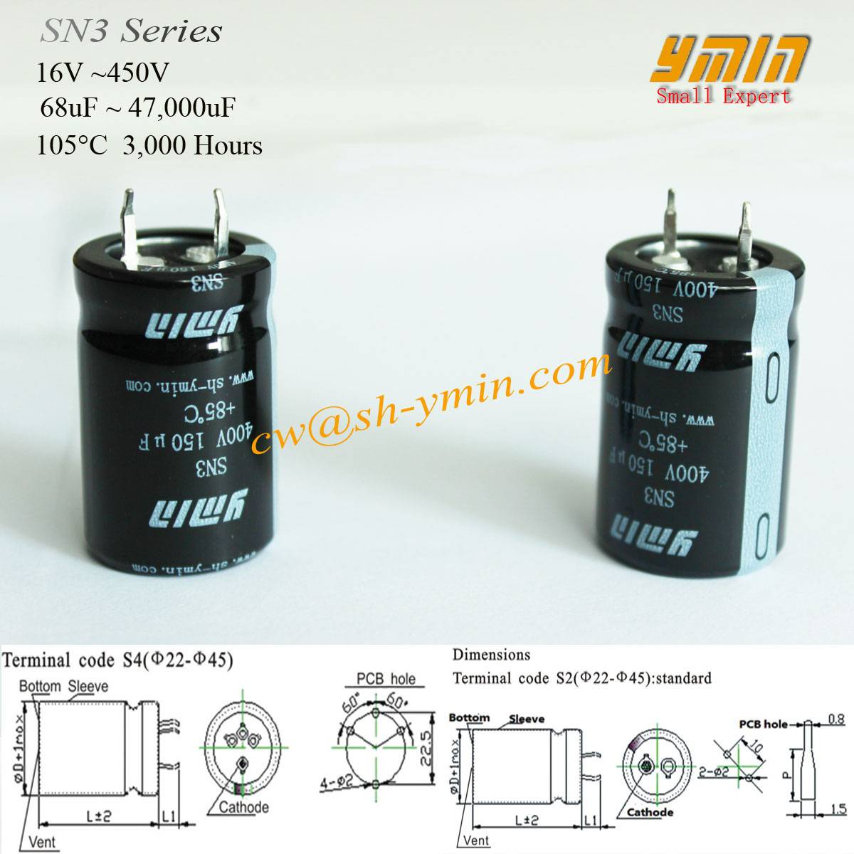 High Voltage Capacitor Snap in Electrolytic Capacitor for E-Car Charging Post E-Vehicle Charging Pil