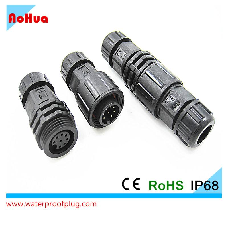 2 To 8pin Outdoor LED Lights Electrical Male To Female Plug Socket IP68 Waterproof Wire Connector