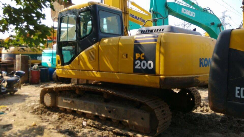Used Japan Original Komatsu PC200-7 Crawler Excavator