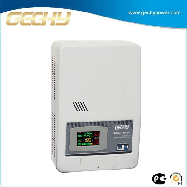 SRWII-4000-L Wall mounted voltage stabilizer/Relay control voltage regulator/New technology design