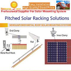 Pitched Solar Racking Solutions with Easy Installation