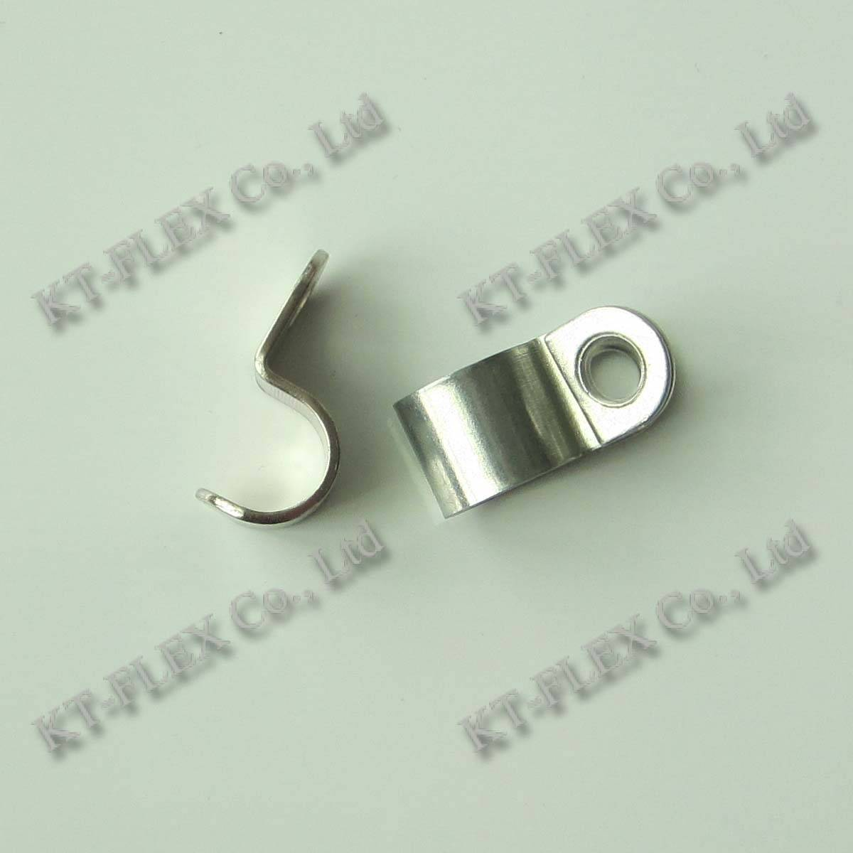 Zinc plated iron 14mm one hole cable clip