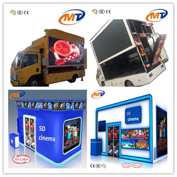 outdoor use cinema  truck moile cinema 5d 7d