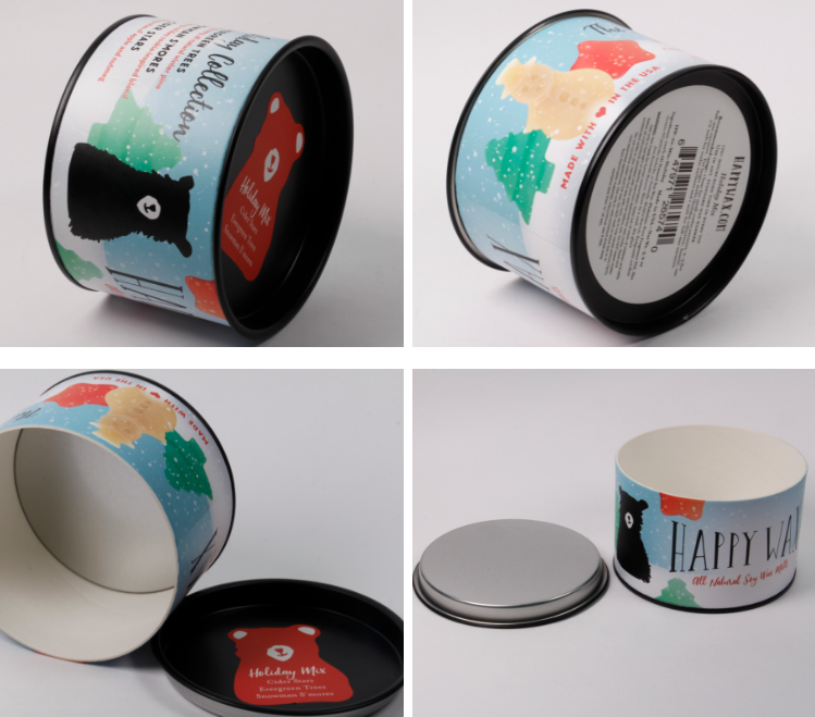 handmade soft round paper soap gift packaging tube