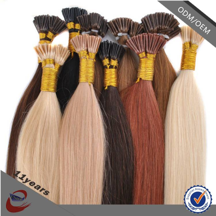 Available in Various Colors 1g European and Chinese Hair Braiding I-Tip Hair Extension , I Tip Hair