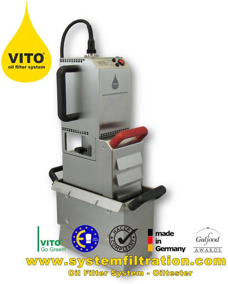VITO 80 oil filter system, shortening filter, frying oil filter