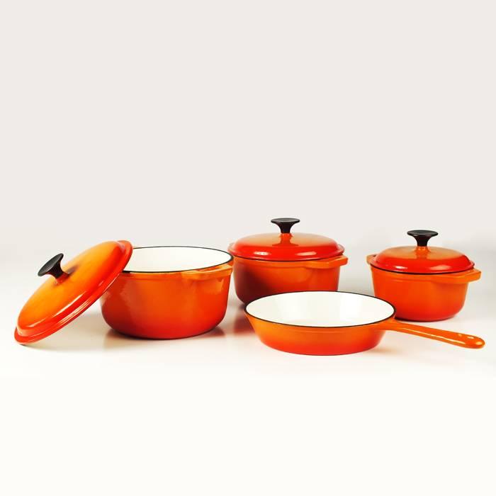 cast iron enameled cookware set factory