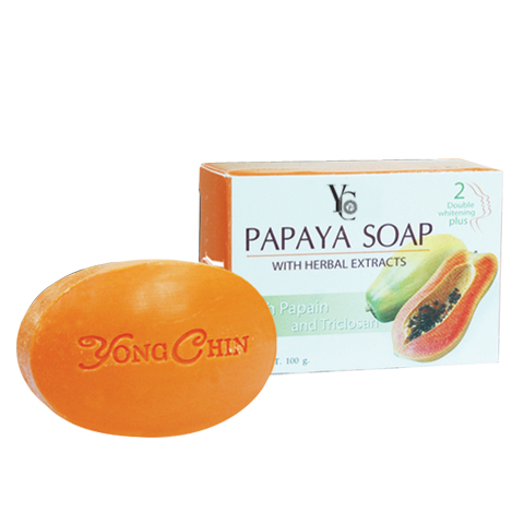 YC brand Soap Papaya Soap Double Whitening Plus