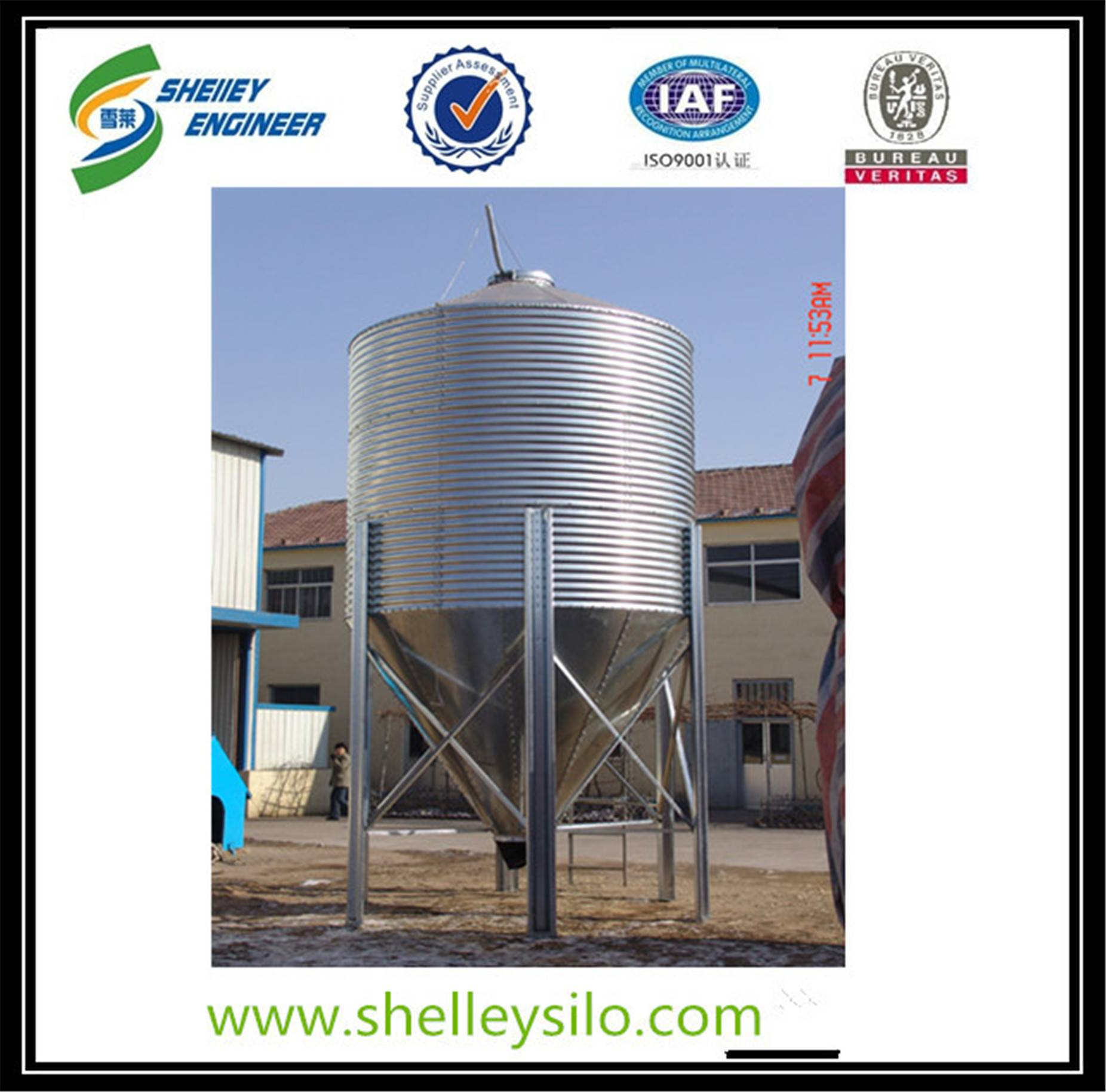 Silos for feed mill used storage silos