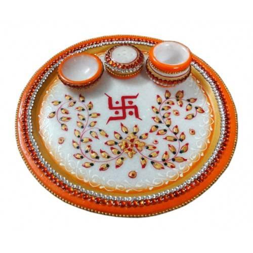 Poojan / Shagun / Aarti Thali-II (Marble)