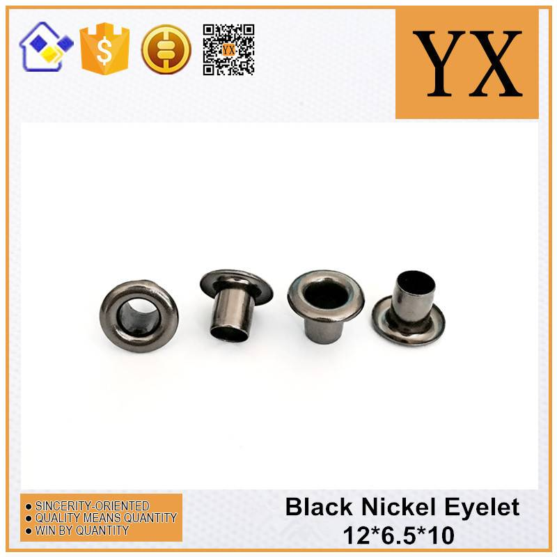 Black Nickel Popular Fashion Metal Eyelets and Grommets for clothing