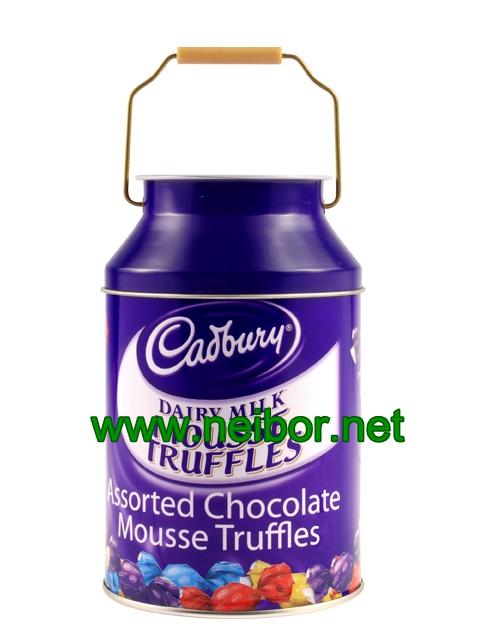 milk can chocolate tin box
