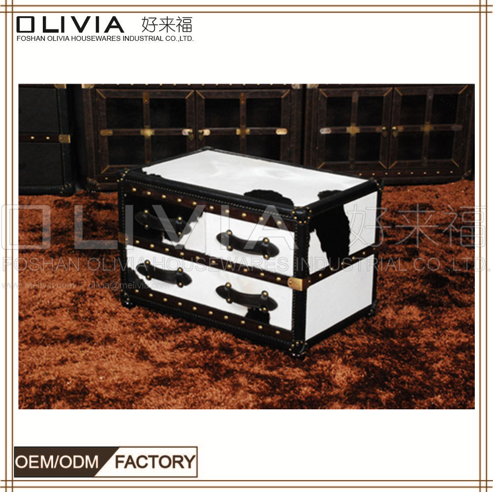 Professional Home Furniture Manufacture Wooden Cabinets Designs For Living Room chest cow leather