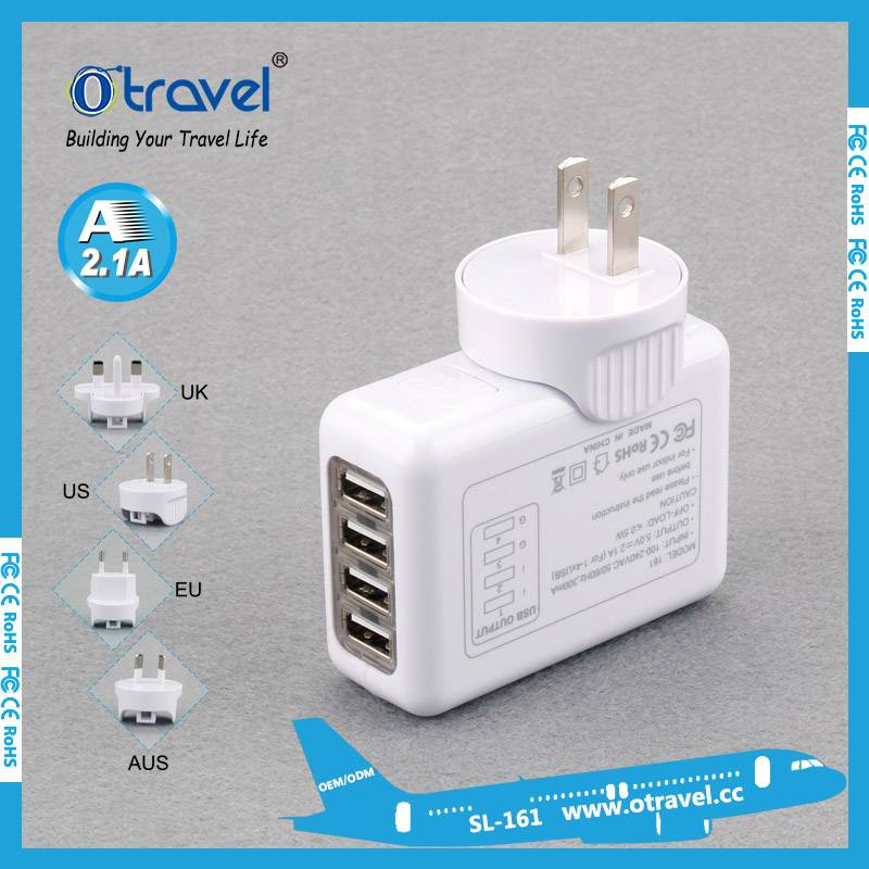 Otravel Universal travel adapter with 4 usb output  3.1A
