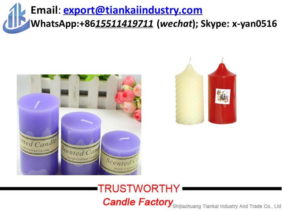 Wholesale high quality pillar candle for home