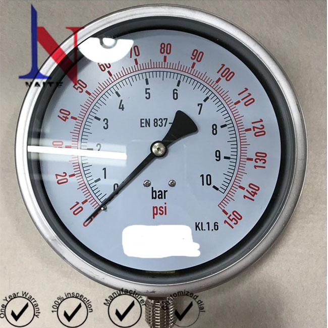 150mm Industrial Stainless Steel Pressure Gauge