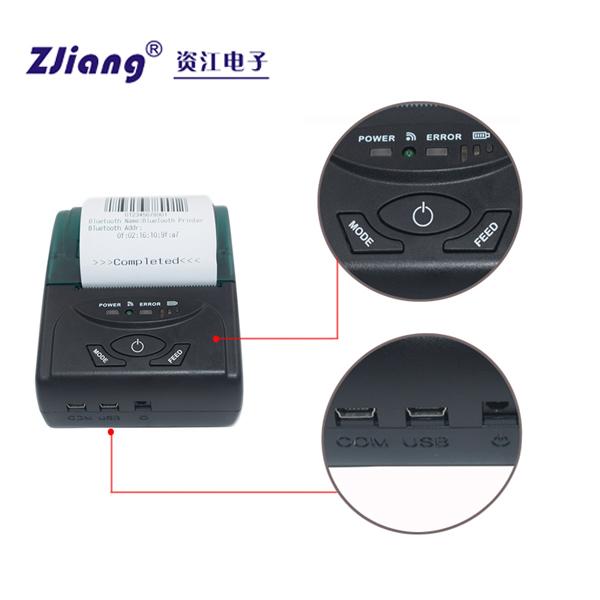 Wireless Bluetooth Printer kit USB ZJ-5807 Bluetooth Printer Portable