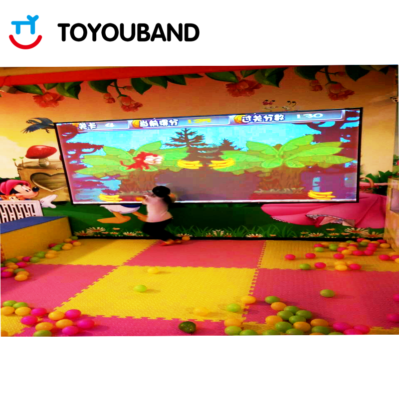 Interactive Wall Projection by Toyouband for indoor playground