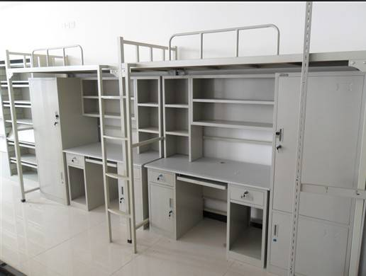 2014 lastest metal bunk bed with cabinet