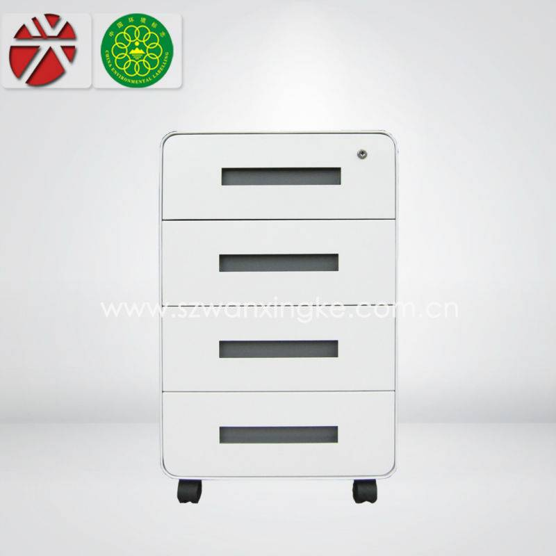 4 drawer white file cabinet/small drawer/mobile furniture cabinet