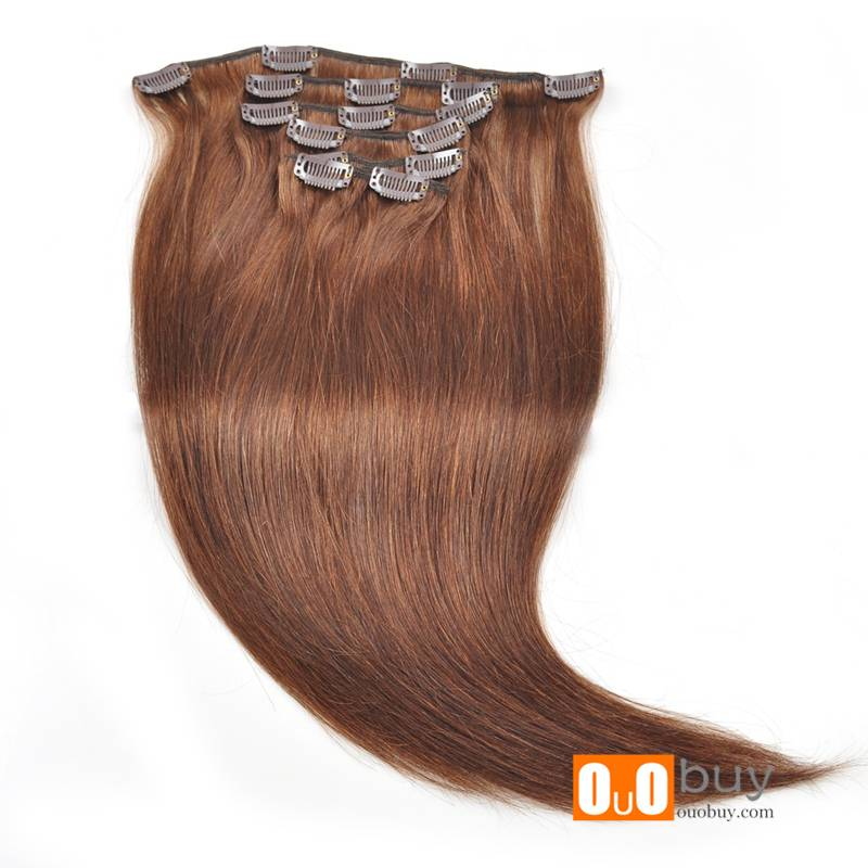 6A Double Drawn Women Hair Top Feedback Human Silky Straight Hair Clip In