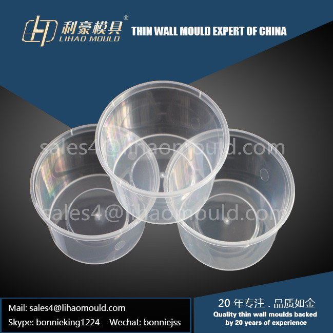 one time use round container mould solution